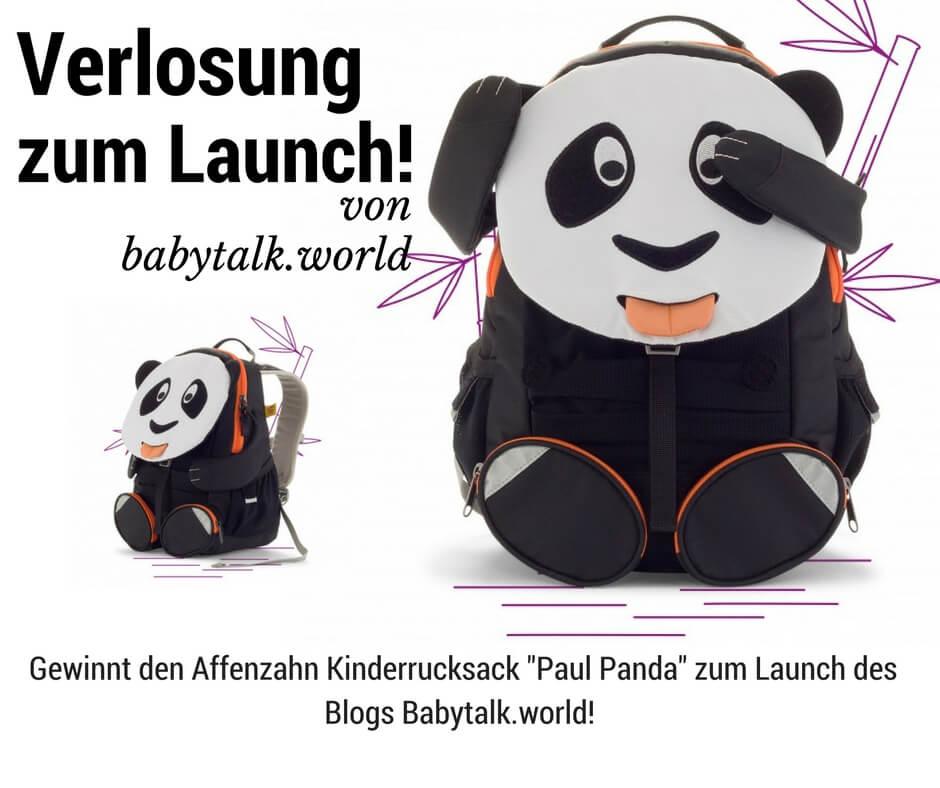 "Verlosung des Affenzahnrucksacks ""Paul Panda"""