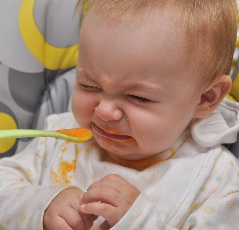 Baby led weaning - Baby mag keinen Brei und verzieht das Gesicht