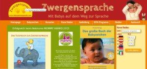 Button Zwergensprache Webseite