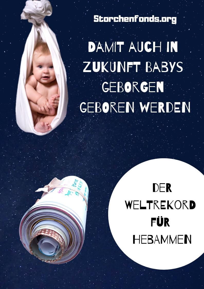Weltrekord für Hebammen Damit auch in Zukunft Babys geborgen geboren werden_