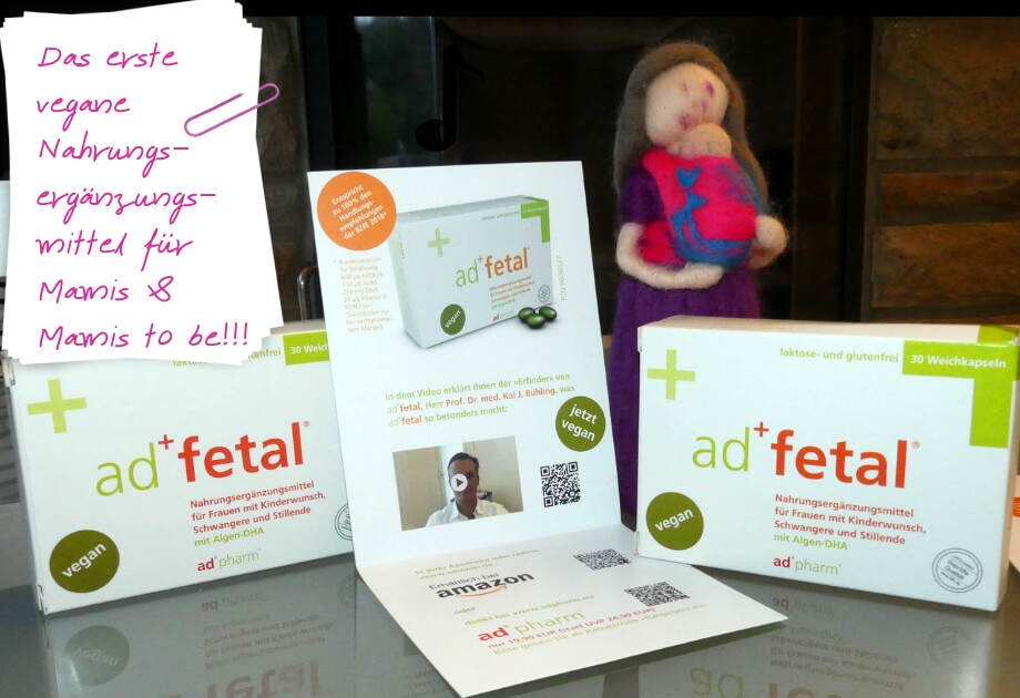 Das erste VEGANE (!) Nahrungsergänzungsmittel für Schwangere, Stillende und Kinderwunschmamis ist da! – Werbung